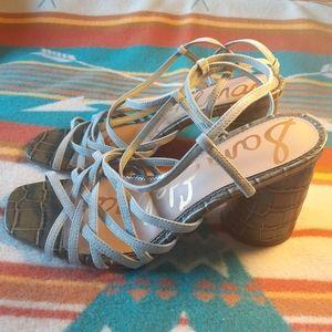 New Sam Edelman Grey Daffodil Sandals, Size 9.5